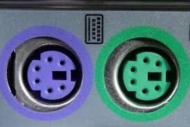 Izgled PS2 konektora za tastaturu i miša