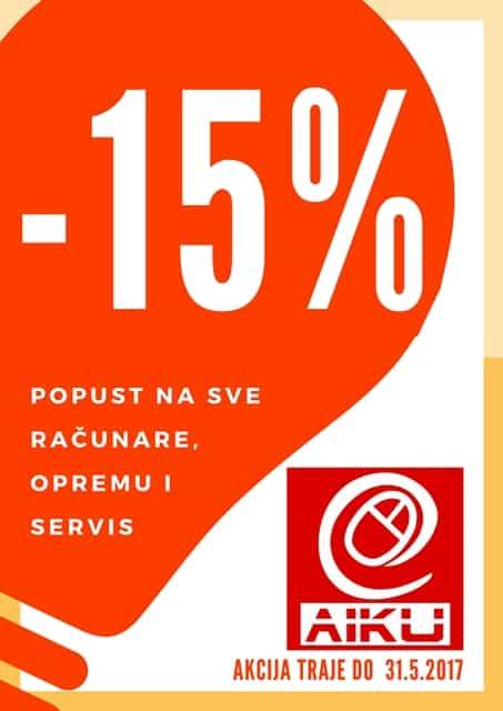 IT novosti Polovni računari Prodaja računara Servis Štampanje - AIKU 15 godina sa vama 2