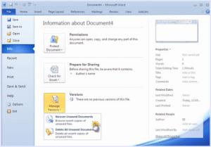 AIKU računari Savjeti - Kako obnoviti nesačuvan MS Word dokument?
